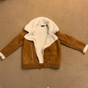 Suede Tan and White Jacket